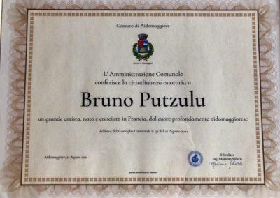 2021 – Citoyen d'honneur de Aidomaggiore en Sardaigne